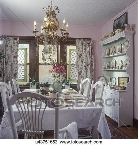 shabby chic dining room curtains stock photo of dining rooms vintage curtains shabby chic cottage look light pink walls
