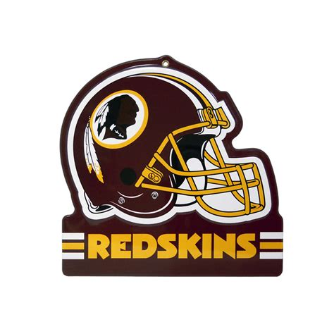 washington redskins metal helmet sign