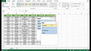How To Create Table In Excel 2013 - Youtube