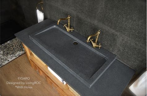 buy kitchen faucets 39 quot gray granite faucet trough sink figaro