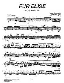 Ludwig Van Beethoven Fur Elise Sheet Music