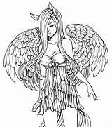 Deviantart Coloring Angel Anime Adults Fairy Evil Sexy Fluttershy Lines Fantasy Adult Ausmalbilder Angels Engel Gothic Wings Dev Goth Printable sketch template