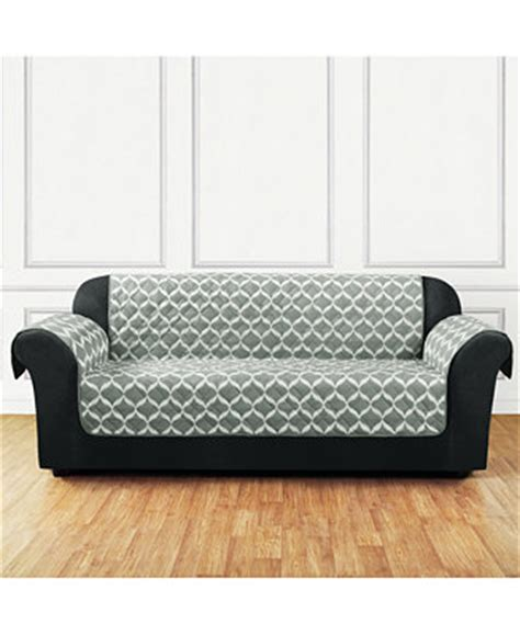macys sofa covers sure fit furniture flair quilted sofa slipcover