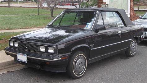 1985 renault alliance convertible imcdb org 1985 renault alliance convertible x42 in