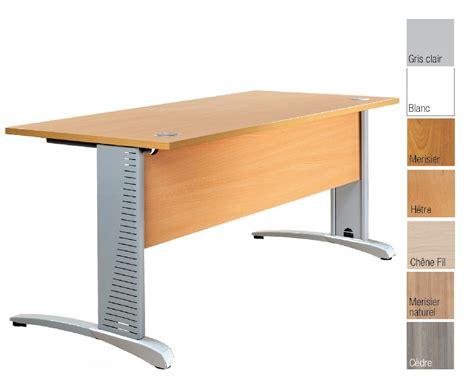 bureau plan bureau plan droit en bois structure acier pied couleur alu