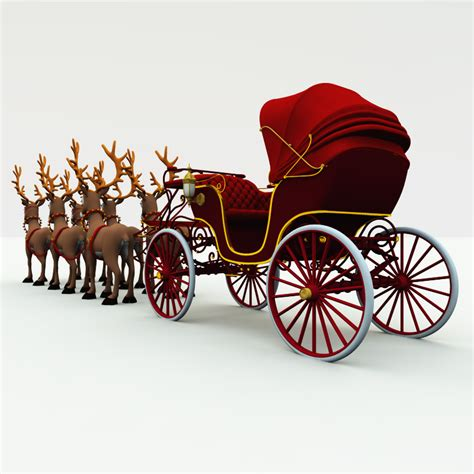 christmas phaeton buggy carriage  model