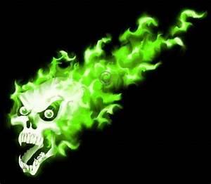 Flames Decals / Tribals Decals :: True Fire Green Flaming ...