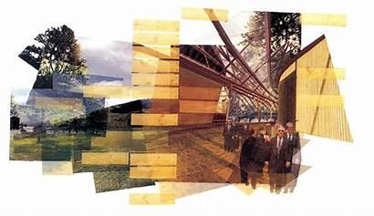 Collage Architecture Miralles Architectural Enric Arquitectura Parliament