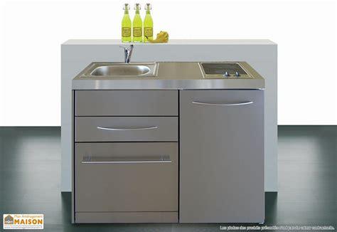 mini cuisine mini cuisine inox avec lave vaisselle et vitrocéramiques