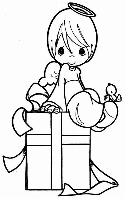 Angel Coloring Guardian Pages Clipart Precious Moments