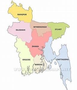 Bangladesh Political Map