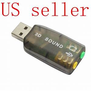 Usb 3d Sound Audio Card For Headphone  Mic 5 1ch Adapter