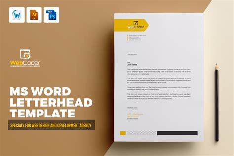 letterhead template creative illustrator templates