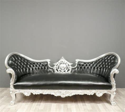 canape cuir meridienne canapé baroque noir fauteuils baroques