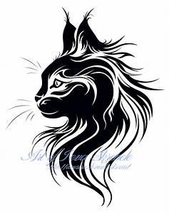 Cat Head Tribal Tattoo by Avestra on DeviantArt