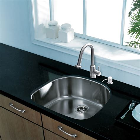 Stainless Undermount Kitchen Sink by Vigo 24 Inch Undermount Single Bowl 18 Stainless