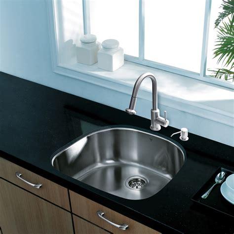 18 gauge stainless steel sink vigo 24 inch undermount single bowl 18 gauge stainless