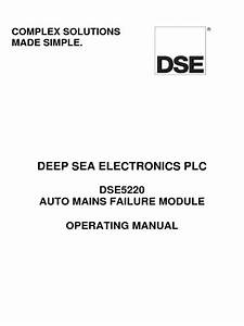 Operation Manual Dse 5220