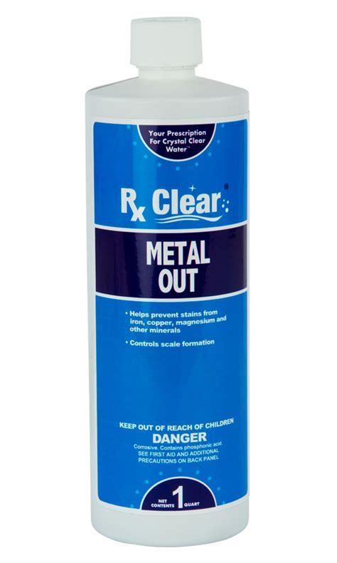 Rx Clear® Metal Out - 1 qt. - PoolSupplies.com