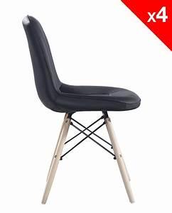 Lot 4 Chaises Scandinaves : kong chaise scandinave matelass e lot de 4 ~ Teatrodelosmanantiales.com Idées de Décoration