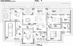 Bungalow Mit Innenhof Grundriss Atrium 289 30 12 Bungalow Mit Turm