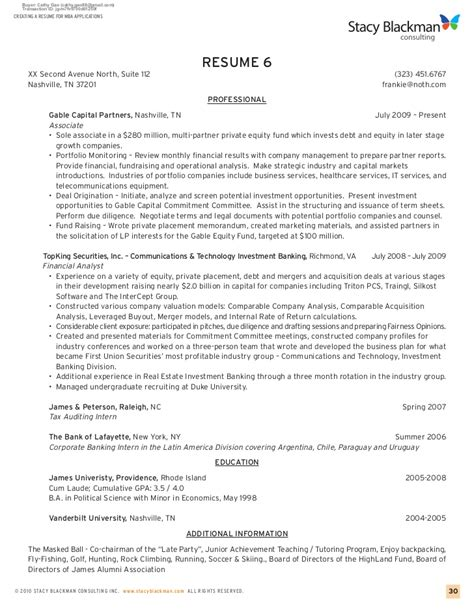 Creating A Resume by Creating A Resume For Mba Applications