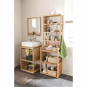Meuble Sous Vasque Bambou : meuble sous vasque natural imitation bambou 60x50cm vasque edge salle de bains meuble ~ Dode.kayakingforconservation.com Idées de Décoration