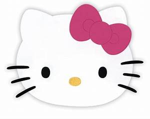 5 best images of hello kitty printable face template With hello kitty cut out template