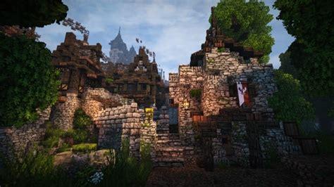 stadtfelsen  medieval castle minecraft building
