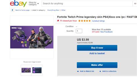 twitch prime bots  harvesting fortnite skins  sell