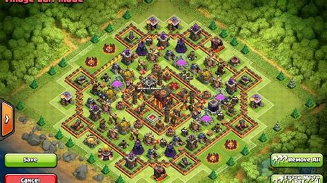 clash of clans best th10 farming base 2015 tips dan trik clash of clans base town 10 terbaik clas