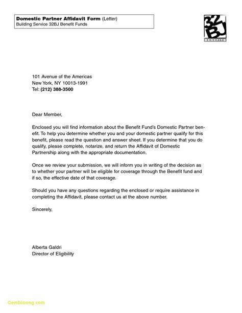 Cover Letter For Affidavit Of Support by I 751 Sle Affidavit Of Friends Letter Pdf
