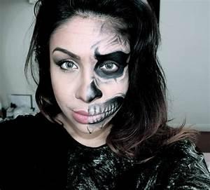 Image Gallery half skeleton face paint