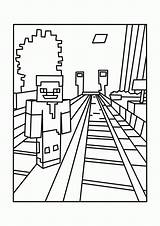 Coloring Minecraft Printable Pages Popular sketch template