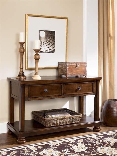 porter sofa tablemedia console  ashley   coleman furniture