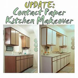 previous kitchen makeover with contact paper before and With kitchen colors with white cabinets with clear sticker paper