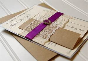 lace wedding invitations unique handmade lace ribbon and With unusual handmade wedding invitations