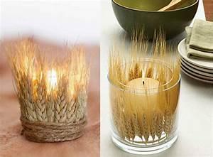Deko Aus Glas : teelichthalter aus glas mit weizenhalmen dekorieren dekoideen ~ Watch28wear.com Haus und Dekorationen
