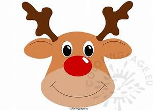 rudolph mask coloring page With rudolph the red nosed reindeer template
