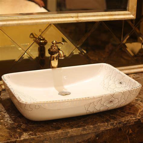 kitchen sink basins rectangular jingdezhen bathroom ceramic sink wash basin 2579