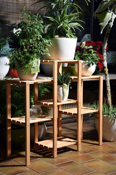 Plant Etagere Outdoor by Wooden Plant Stand Garden Planter Outdoor Etagere