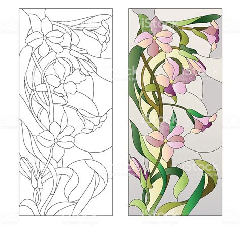 Floral Stained Glass Pattern Book floral stainedglass pattern stock vector more images