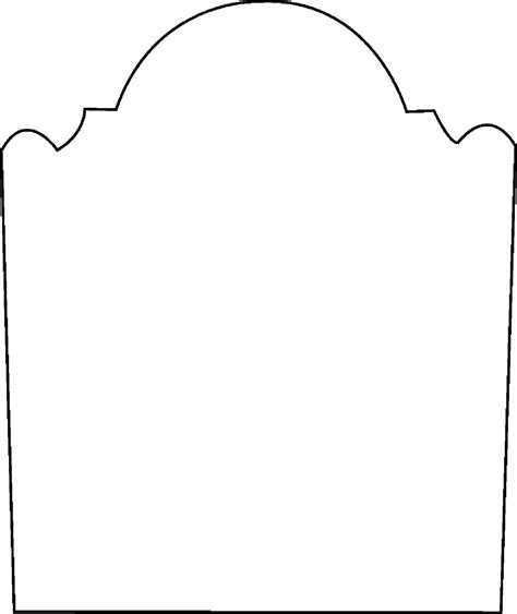 headstone template tombstone coloring page clipart best