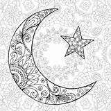 Ramadan Coloring Kareem Moon Greeting Half Engraved Mubarak Sketch Poster sketch template