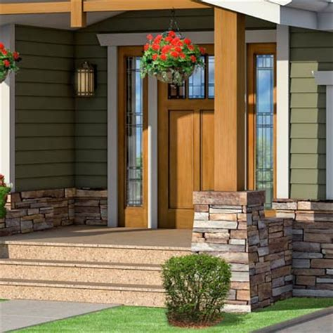 front doors for ranch style homes front door photoshop redo craftsman makeover for a no frills ranch this old house