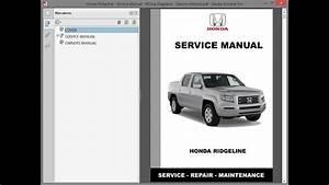 Honda Ridgeline - Service Manual    Repair Manual - Wiring Diagrams - Owners Manual
