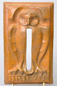 art deco letter box slot with owl catawiki With art deco letter box