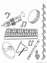 Coloring Instruments Musical Pages Music Sheets Printable Jazz Colouring sketch template