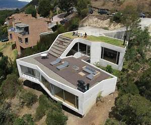 beautiful home on a steep hill with incredible view 14 With maison avec jardin interieur 5 extension de maison toiture double pente verandaline