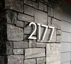 Modern house numbers modern exterior phoenix by for Exterior house numbers and letters